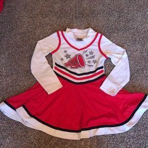Dollie & Me Red White Black Cheer Dress